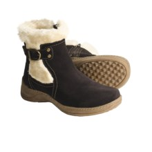 Henri Pierre by Bastien Jennifer Boots - Suede (For Women) in Chocolate - Closeouts