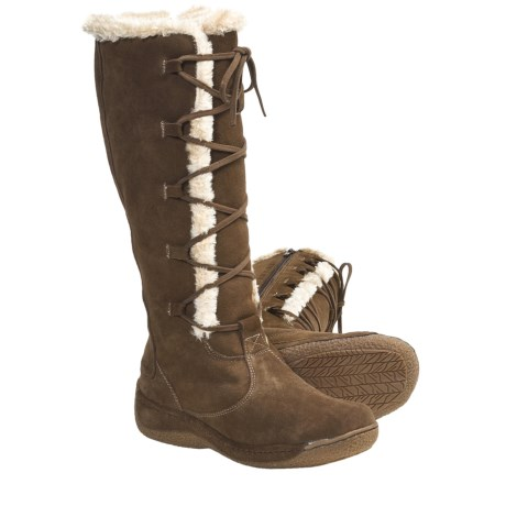 "Henri Pierre by Bastien Katia 13"" Boots - Suede (For Women) in Taupe"