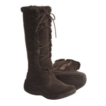 "Henri Pierre by Bastien Katia 13"" Boots - Water Resistant, Suede (For Women) in Godiva - Closeouts"