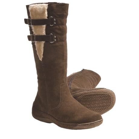 Henri Pierre by Bastien Kelly Winter Boots - Suede (For Women) in Taupe