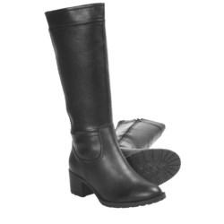 Henri Pierre by Bastien Meghan Zip-Up Boots - Leather, Wool Lining (For Women in Black