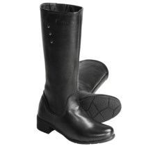 "Henri Pierre by Bastien Tessa Leather Boots - 13"" (For Women) in Black - Closeouts"