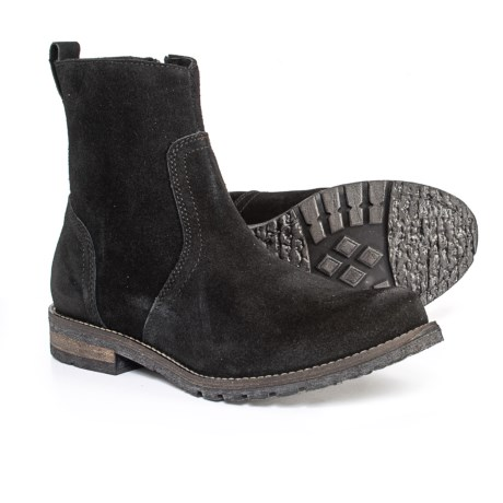 Henri Side Zip Boots - Suede (For Men) - BLACK (11 )