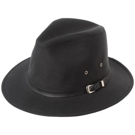 6a348e8b025 Henschel Safari Oil Cloth Hat - Waterproof (For Men) in Black