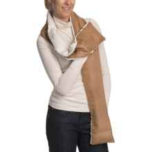 Herbal Concepts Aromatherapy Warming Scarf in Brown/White - Closeouts