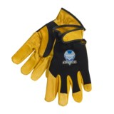 Hercules Mechanic-Style Gloves with Adjust Wrist Strap - B/C-Grade Cowhide Palm (For Men)