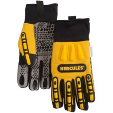 Hercules Oil- and Water-Resistant Rigger Gloves (For Men) in Black/Yellow - Closeouts