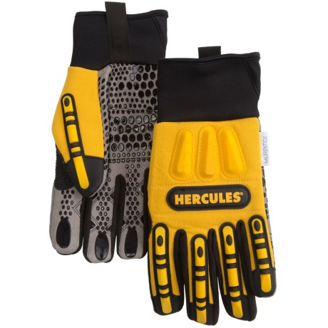 Hercules Oil- and Water-Resistant Rigger Gloves (For Men) in Black/Yellow