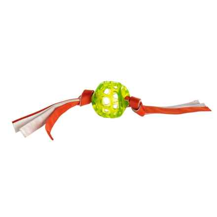 Hero Retriever Series Soft Rubber Ball with Canvas Handle Dog Toy in Hunter Orange - Closeouts