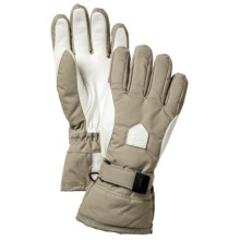 Hestra Alpine Classic Gloves - Waterproof, Insulated (For Men and Women) in Khaki/White - Closeouts