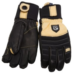 Hestra Army Leather Ascent Gloves - Cordura® (For Men) in Black/Yellow/Natural