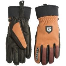 Hestra Army Leather Gloves - Removable Wool Lining (For Men and Women) in Cork/Brown - Closeouts