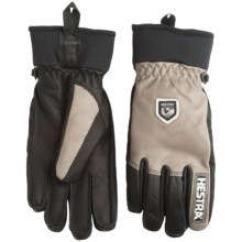 Hestra Army Leather Gloves - Removable Wool Lining (For Men and Women) in Earth/Black - Closeouts