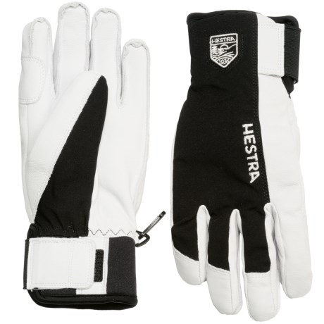 Hestra Army Sastrugi Gloves - Leather (For Men) in Black/White