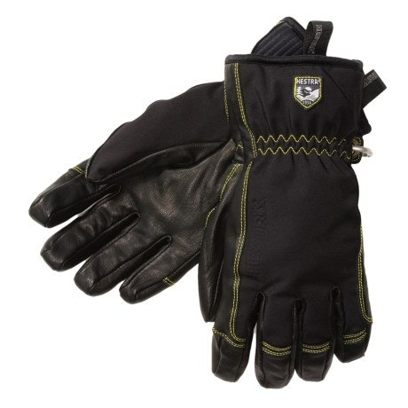 Hestra C-Zone Soft Shell Short Gloves - Waterproof (For Men and Women) in Black/Black