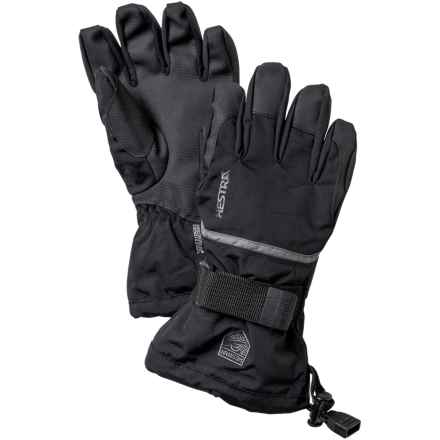 Hestra CZone Gauntlet Gloves - Waterproof, Insulated (For Little and Big Kids) in Black/Earth - Closeouts