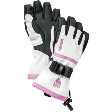 Hestra CZone Gauntlet Gloves - Waterproof, Insulated (For Little and Big Kids) in White/Pink - Closeouts