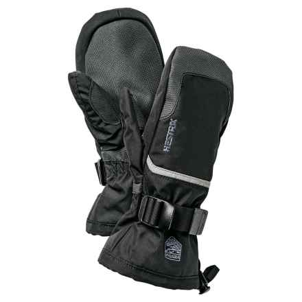 Hestra CZone Gauntlet Jr. Mittens - Waterproof, Insulated (For Little and Big Kids) in Black/Grey - Closeouts