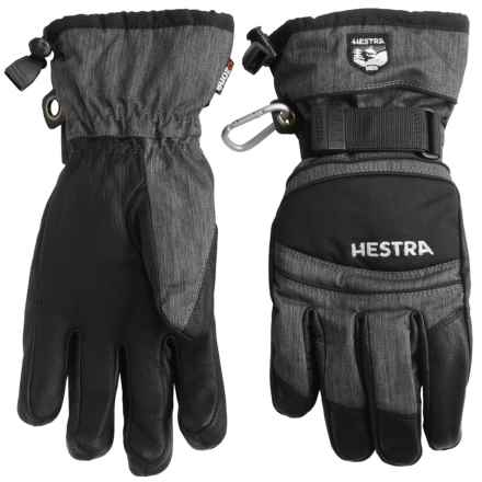 Hestra CZone Mountain Gloves - Waterproof, Insulated (For Men and Women) in Charcoal/Black - Closeouts