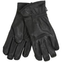 Hestra Deerskin Driver Gloves - Lined (For Men) in Black - Closeouts