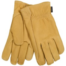 Hestra Deerskin Driver Gloves - Lined (For Men) in Natural Yellow - Closeouts