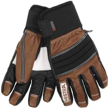 Hestra Dexterity Gloves - Waterproof, Insulated (For Men) in Brown/Black - Closeouts