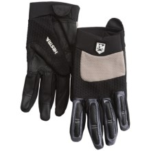 Hestra Downhill Sr. Cycling Gloves (For Men and Women) in Black/Light Earth - Closeouts
