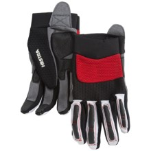 Hestra Downhill Sr. Cycling Gloves (For Men and Women) in Black/Red - Closeouts