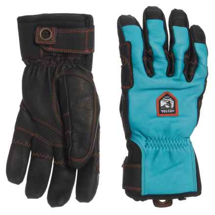 Hestra Ergo Grip Incline Ski Gloves - Insulated (For Men) in Turquoise/Black - Closeouts