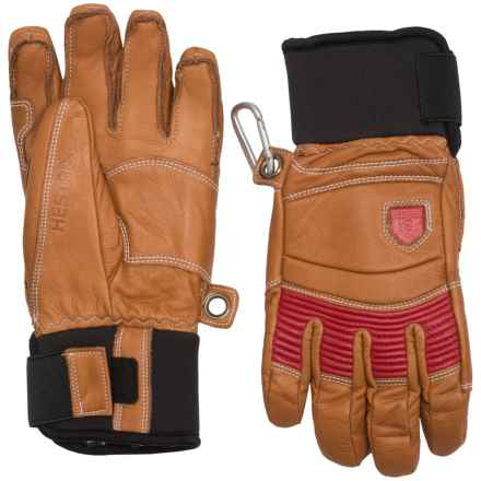 Hestra Fall Line Leather Gloves - Insulated (For Men) in Tan/Red - Closeouts