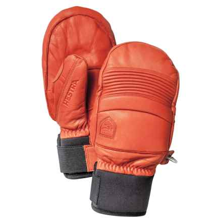 Hestra Fall Line Leather Mittens - Insulated (For Men and Women) in Flame Red - Closeouts