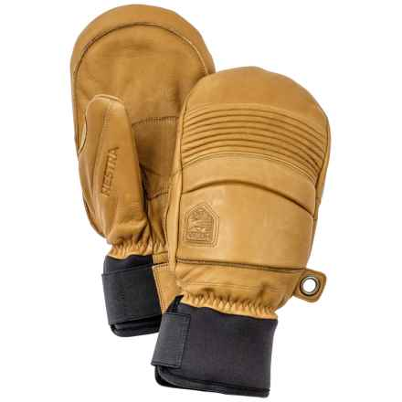 Hestra Fall Line Leather Mittens - Insulated (For Men and Women) in Tan - Closeouts