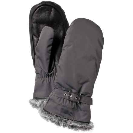 Hestra Female Winter Forest PrimaLoft® Mittens - Waterproof, Insulated (For Women) in Charcoal/Black - Closeouts