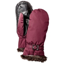 Hestra Female Winter Forest PrimaLoft® Mittens - Waterproof, Insulated (For Women) in Fuschia/Black - Closeouts