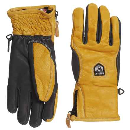 Hestra Furano Swisswool Leather Gloves (For Men) in Yellow/Grey - Closeouts