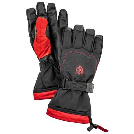 Hestra Gauntlet Sr. Gloves - Waterproof, Insulated (For Men) in Black/Dark Red - Closeouts
