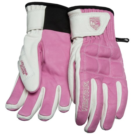 Hestra Henrik Windstedt Pro Ski Gloves - Insulated (For Men and Women) in Cerise/Off White