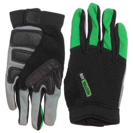 Hestra Indium Gloves (For Men and Women) in Green/Grey/Black - Closeouts