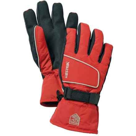 Hestra Isaberg CZone Jr. Gloves - Waterproof, Insulated (For Little and Big Kids) in Red - Closeouts