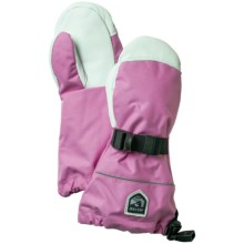 Hestra Kebnekaise Swisswool Merino Wool Mittens - Waterproof, Insulated (For Little and Big Kids) in Pink/White - Closeouts