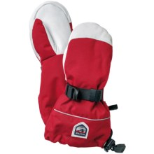 Hestra Kebnekaise Swisswool Merino Wool Mittens - Waterproof, Insulated (For Little and Big Kids) in Red/White - Closeouts