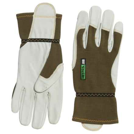 Hestra Kobolt Flame Gloves - Leather (For Men and Women) in Olive/White - Closeouts