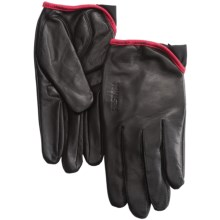 Hestra Leather Cycling Gloves (For Men and Women) in Leather Black - Closeouts