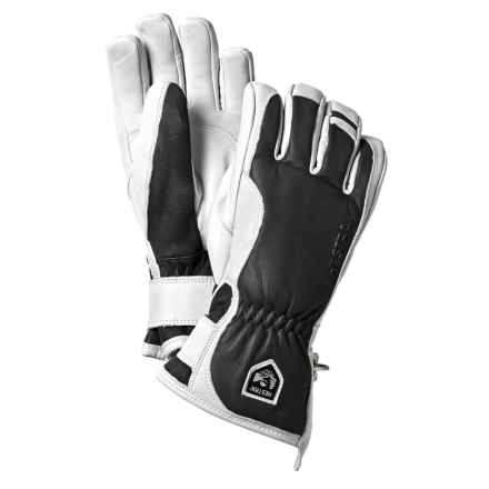Hestra Leather Swisswool Merino Gloves - Insulated (For Men) in Grey/Off White - Closeouts