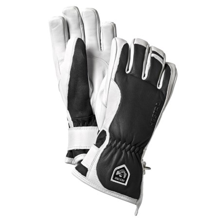 Hestra Leather Swisswool Merino Gloves - Insulated (For Men) in Grey/Off White