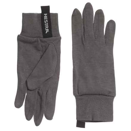 Hestra Merino Wool Liner Gloves (For Men) in Dark Grey - Closeouts
