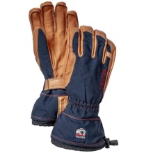 Hestra Narvik Wool Terry Gloves - Goat Leather, Removable Lining (For Men and Women) in Navy/Backcountry Patch - Closeouts