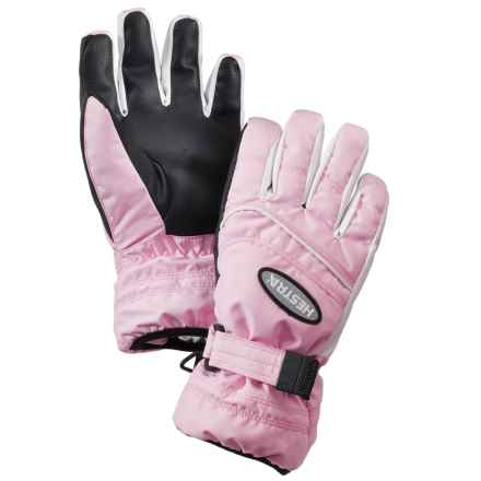 Hestra PrimaLoft® Gloves - Waterproof, Insulated (For Little and Big Kids) in Pink/White - Closeouts