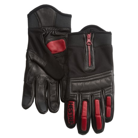 Hestra Rider Cycling Gloves (For Men and Women) in Black/Red