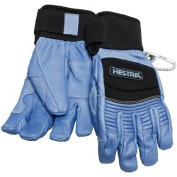 Hestra Ski Cross Gloves - Waterproof, Insulated (For Men and Women) in Blue/Black